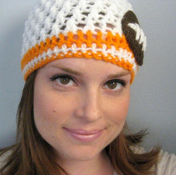 Crochet Tennessee Volunteers Football Team Beanie by LapofLuxury, $28.00
