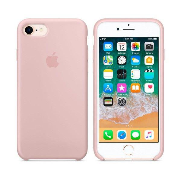 Apple Carcasa De Silicona Rosa Arena Para Iphone 7 Iphone 8 Fundas Para Iphone 5 Fundas De Silicona Para Iphone Fundas Para Iphone 6