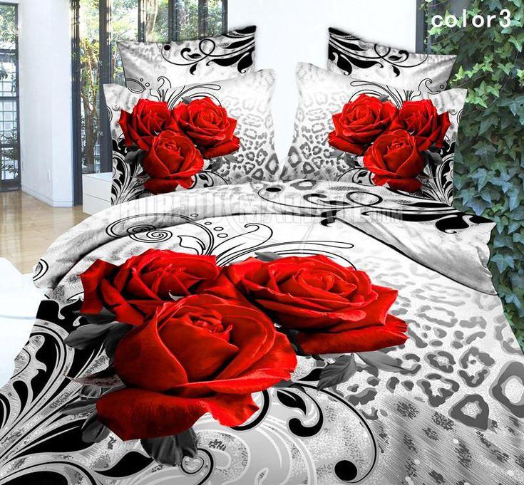 Housse de couette 3D pas cher décoré par fleurs [#ROBE2012773] - robedumariage.com