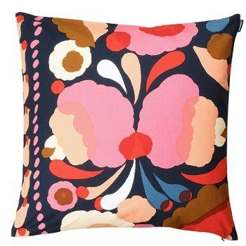 Marimekko's Tuppura cushion cover, d. blue - red - yellow