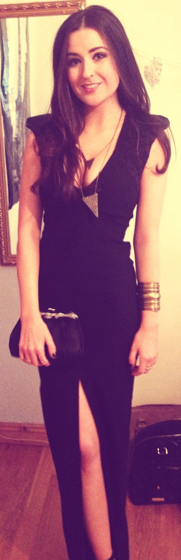Loved wearing this floor length vesper dress to the ball x