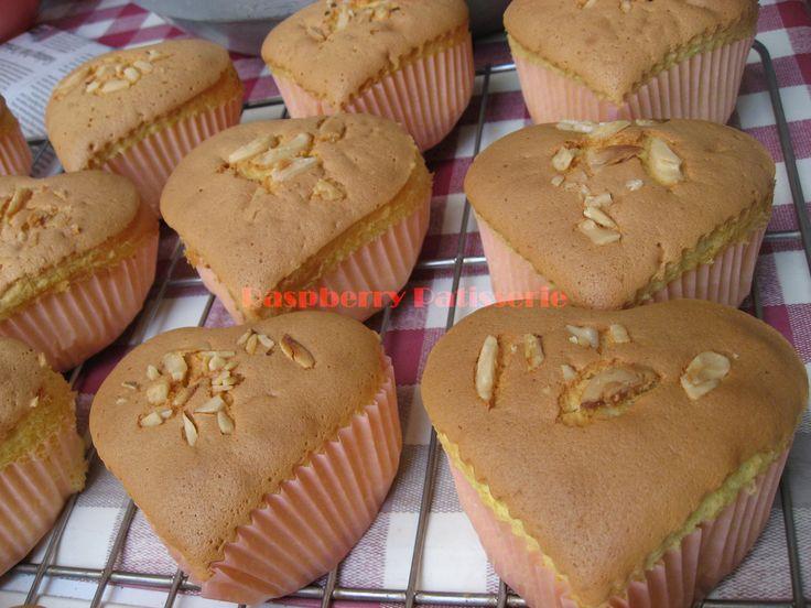 Heart sponge cake