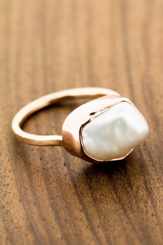 Kasumi Natural Pearl Ring #littleadditions