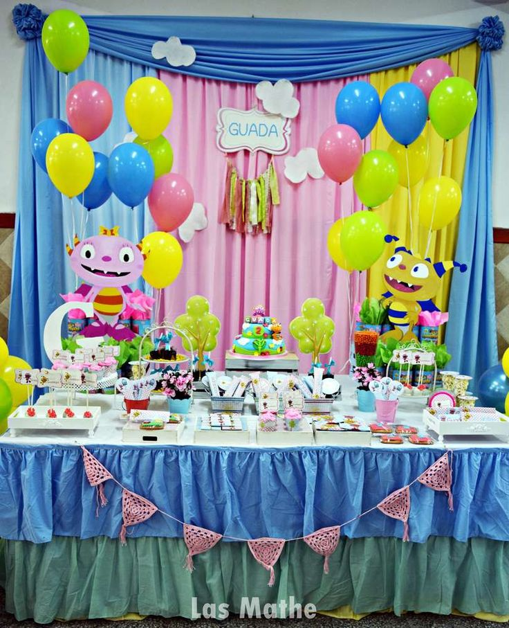 Dessert table at a monster birthday party! See more party planning ideas at CatchMyParty.com!