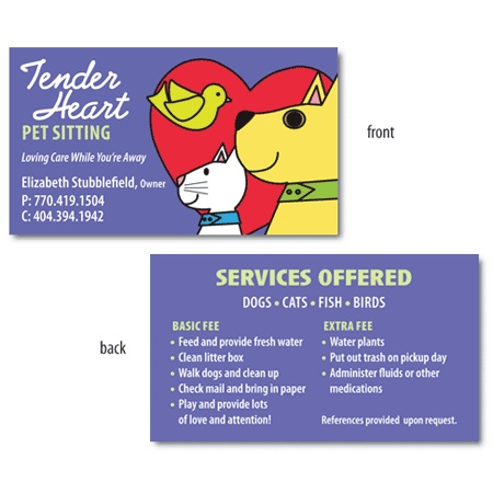 37 Best Images About Pet Sitting Business Cards On