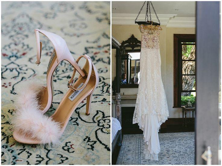 Gorgeous Steve Madden stiletto heels with fur detail.