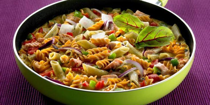 Maistuva pasta frittata