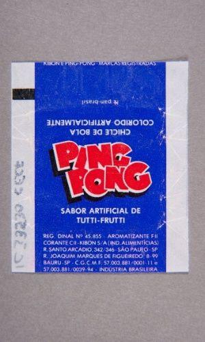 Os chicletes Ping Pong eram vendidos em dois sabores: tutti fruti e hortelã. Vinham com figurinhas e tatuagens