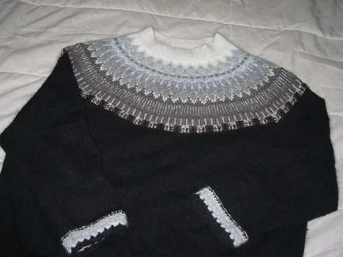 Available as kits from SOLSilke as a pullover, cardigan, or jacket.