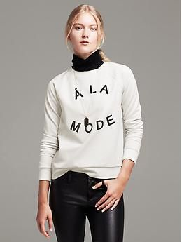 """Today's naughty purchase :). """"A La Mode"""" Pullover Banana Republic"""