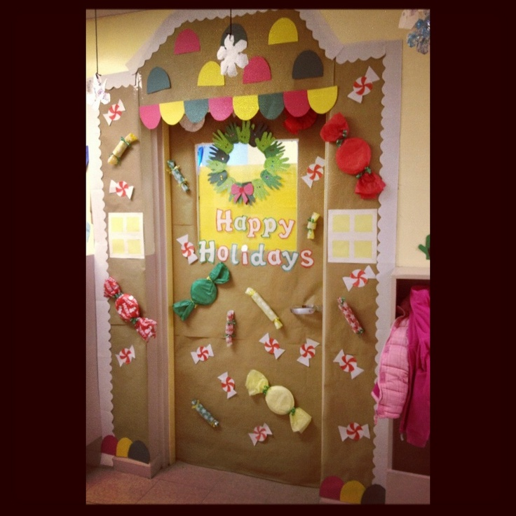 School Office Decor Christmas Gingerbread House Door: My Gingerbread House Classroom Door