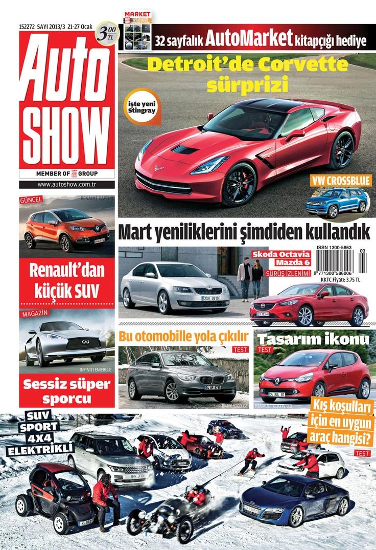 Autoshow Dergisi, 21-27 Ocak sayısı yayında! Hemen okumak için: http://www.dijimecmua.com/autoshow/    Autoshow dergisini iPad (Dijimecmua HD) ve iPhone (Dijimecmua S) uygulamalarını indirerek okuyabilirsiniz.    Autoshow Dergisi (Haftalık)i;  3 ay boyunca tüm sayıların dijital üyeliği 10 lira,  6 ay boyunca tüm sayıların dijital üyeliği 18 lira,  12 ay boyunca tüm sayıların dijital üyeliği 34 lira.    Üye olmak için tıkla: http://www.dijimecmua.com/index.php?c=m