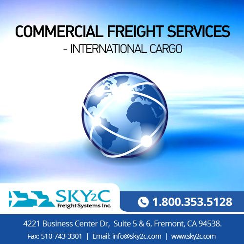 International air freight by #Sky2c is the premium choice for transporting your commercial goods and cargo hassle-free.