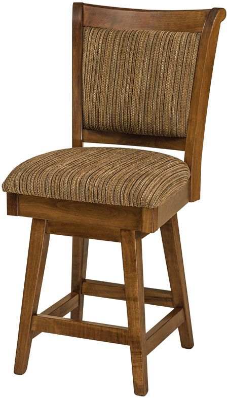 You'll save on every piece of furniture at Amish Outlet Store! We custom make every item, and you can get the Adair Swivel Barstool in Oak with any wood and stain.
