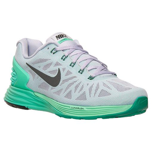 Women's Nike Lunarglide 6 Running Shoes - 654434 503   Finish Line    Titanium/Black/Menta/Green Glow   Shoes   Pinterest   Best Nike lunarglide,  ...