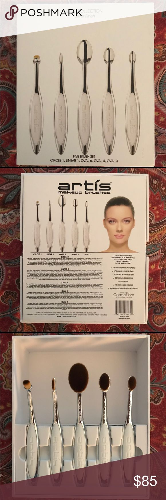ARTIS Elite Mirror 5 Brush Set. NWT Artis makeup brushes