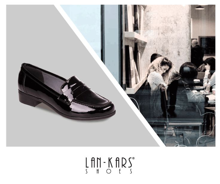 Klasyczne, eleganckie mokasyny na każdą okazję.  #shoes #black #gif #elegant #minimalism #model #shiny #leather #coffee #shopping #style #woman #flats #lankars #comfortable #layout