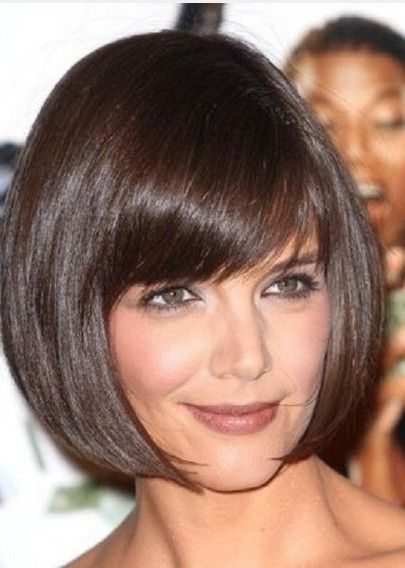 Short Hairstyles With Blunt Bangs | Short Bob Haircut with Blunt Bangs for Thin Hair