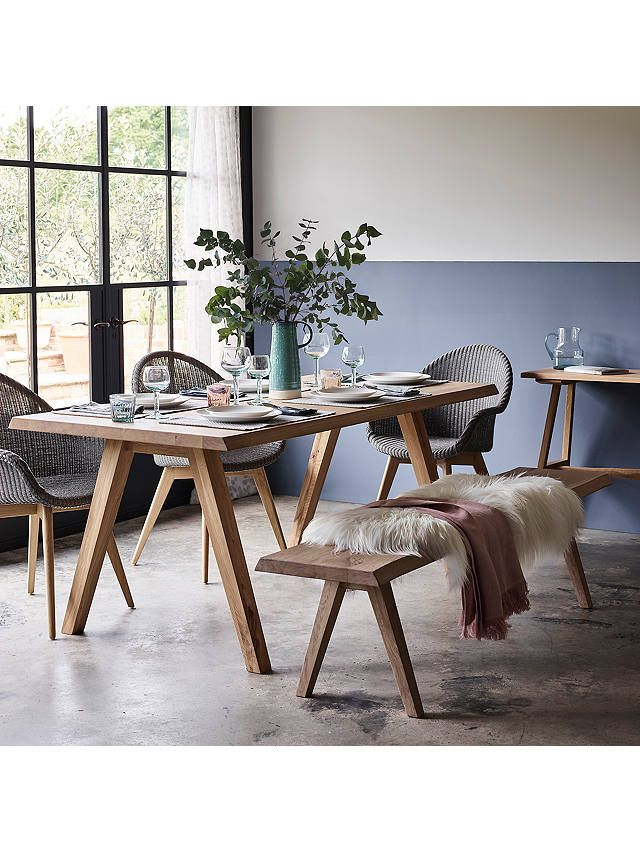 John Lewis Partners Lorn 6 Seater Dining Table Oak 6 Seater Dining Table Dining Table Chairs Oak Dining Table