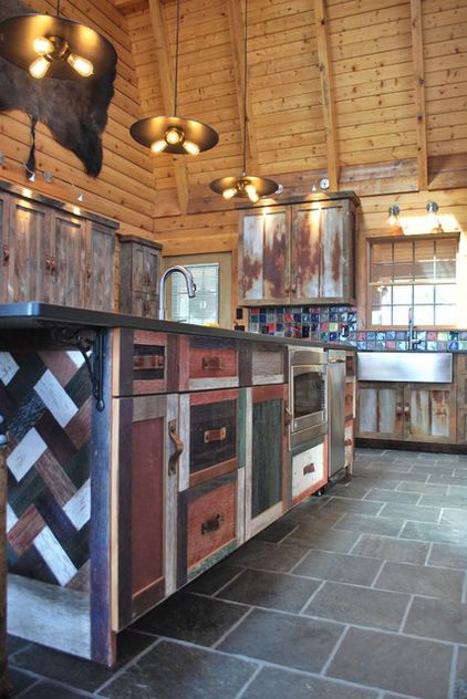 Reclaimed Kitchen For A Getaway Home Is Awesome! Barnboard