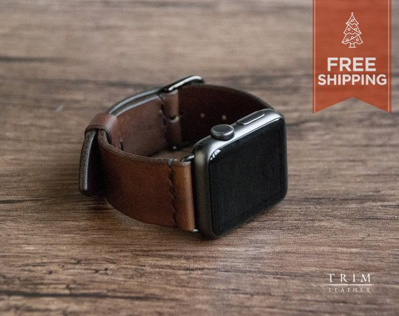 Apple Watch Leather Band Watch Band Minimal by TRIMleather on Etsy