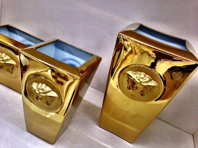 MEDUSA GOLD VASES - Available at Palazzo Collezioni Boutique Sydney #versacehome #fashion #luxuryinteriors #interiordesign #luxuryhome #luxuryaustralia #design #interior