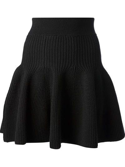 fully fashioned half cardigan rib skirt drop waist flare shape KENZO - knitted ruffle hem skirt 6