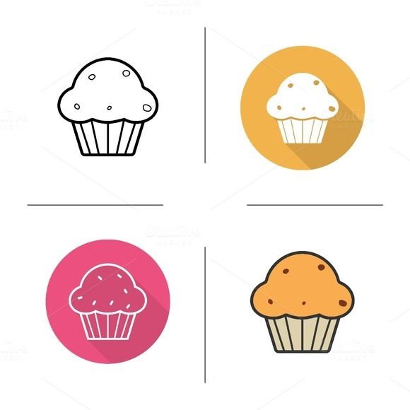 Cupcake icons. Vector @creativework247
