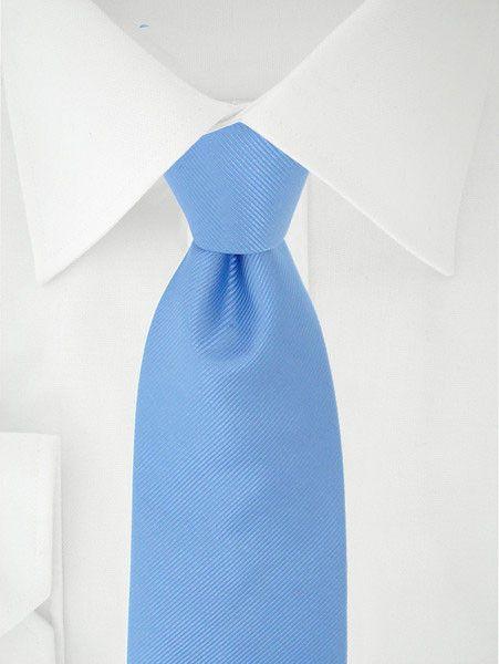 Licht Blauwe Stropdas Uni XL