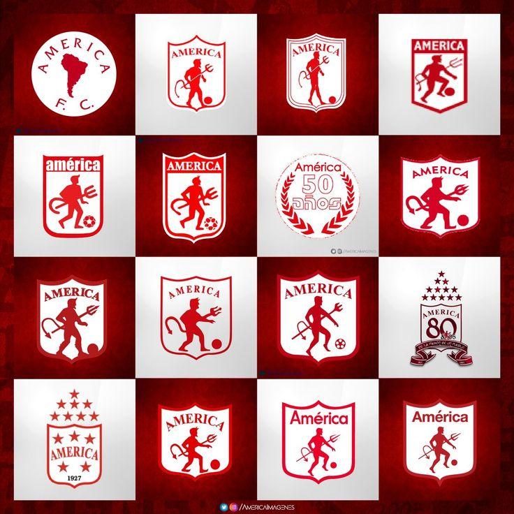 Escudos del América de Cali , a través de la historia