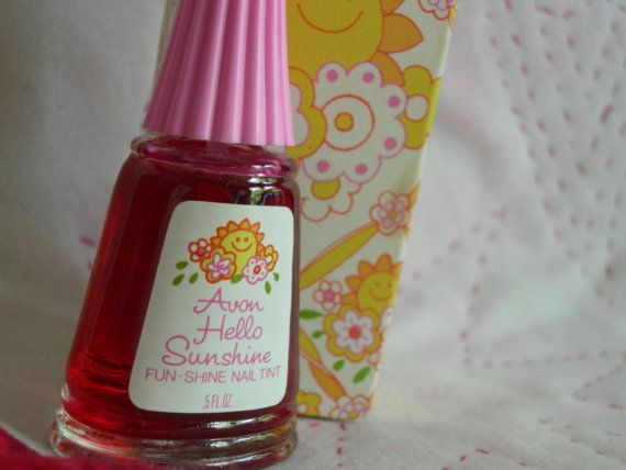 avon translucent nail polish.  I think this mat have been my first polish, I can't remember back that far.  :)