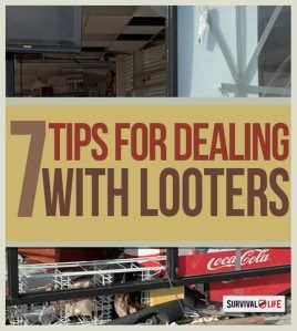 how to deal with looters