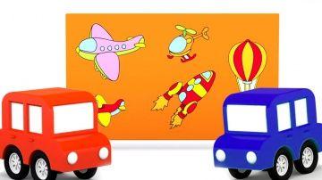 """Развивающий 3D мультик - 4 машинки мультфильм - собираем пазл - воздушный транспорт http://video-kid.com/10542-razvivayuschii-3d-multik-4-mashinki-multfilm-sobiraem-pazl-vozdushnyi-transport.html  Развивающий мультфильм для самых маленьких """"четыре машинки"""" - это маленькие 3D машинки, игры, пазлы и классическая музыка Моцарта. В этом мультике 4 маленькие машинки привезут доску для пазла, а паровозик - сами картинки-пазлы. Давай рассмотрим, что на них изображено! Да это же воздушный транспорт…"""