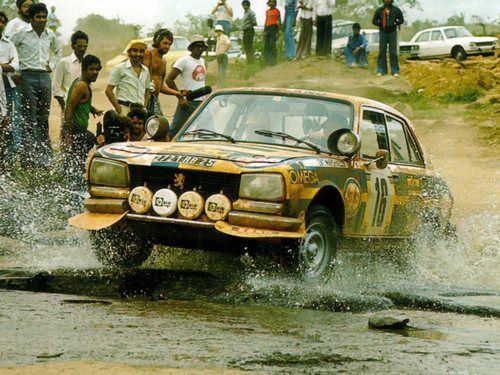 Peugeot 504 rally car