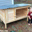 Outdoor Rabbit Hutch Plans  | MyOutdoorPlans | Free Woodworking Plans and Projects, DIY Shed, Wooden Playhouse, Pergola, Bbq