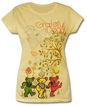 $19.99 - Grateful Dead - Bears and Trees Women's T-Shirt. Yes please. Maybe I can paint it, I have paint and fabric medium. I bet I could do it.