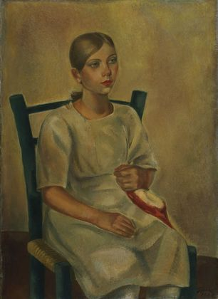 Maurice Sterne. Girl in Blue Chair. 1928