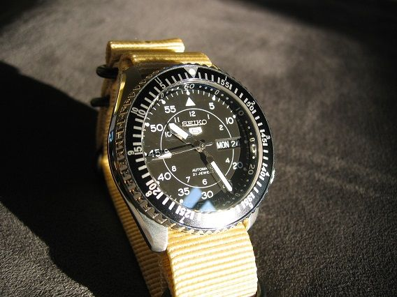Skx with snk809 dial, gmt countdown bezel insert, saphire ...
