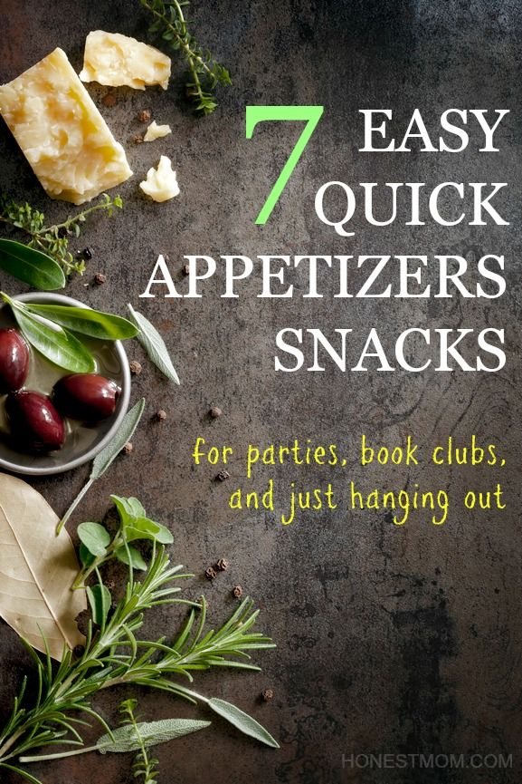 7 easy and quick appetizers and snacks for Christmas entertaining