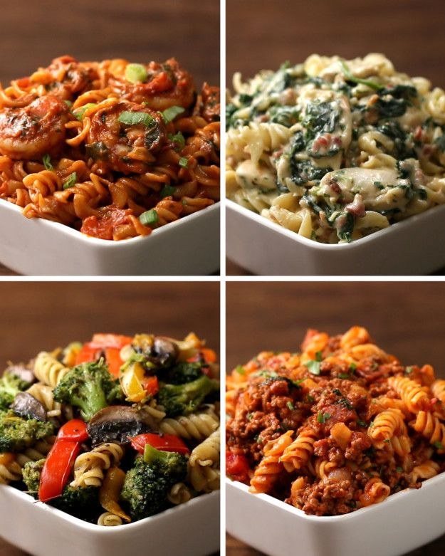 Rotini Pasta 4 Ways | These Four Pasta Dishes Are So Good They Are Going To Make You So Happy