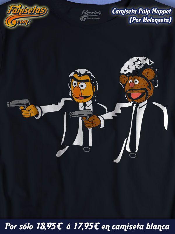 """""""Pulp Muppet""""! Una parodia de #Melonseta entre la clásica película #PulpFiction y #Epi y #Blas de #LosTeleñecos! #Camisetas #Graciosas #Fanisetas http://www.fanisetas.com/camiseta-pulp-muppet-por-melonseta-p-5375.html"""