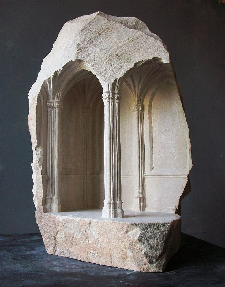 Miniature Medieval Interiors Carved into Raw Marble Blocks by Mathew Simmondsby Johnny Strategy on June 30, 2014