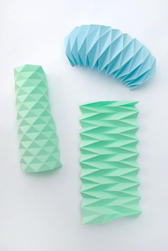 17 best images about textil and paper on pinterest for Paper folding art projects