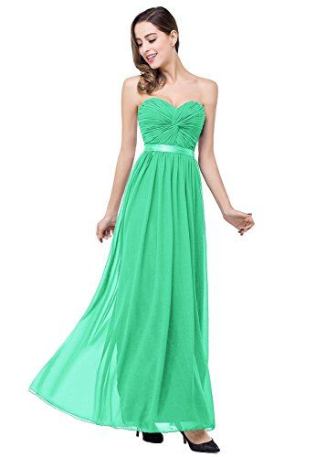 Chiffon Long Prom Dresses 2016 Sweetheart Evening GownsGreensize 8 ** You can get additional details at the image link. (Note:Amazon affiliate link)