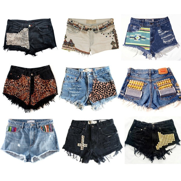 diy shorts found on Polyvore