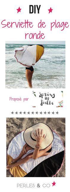 Apprenez à coudre une superbe serviette de plage ronde avec ce tutoriel pas à pas. Un DIY coloré et tendance pour frimer sur la plage