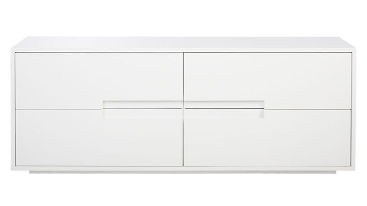 For the bedroom, under the window.  latitude white low dresser $500