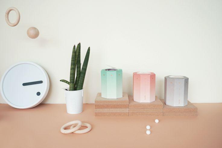 OIMU octagonal matchbox with minimal object