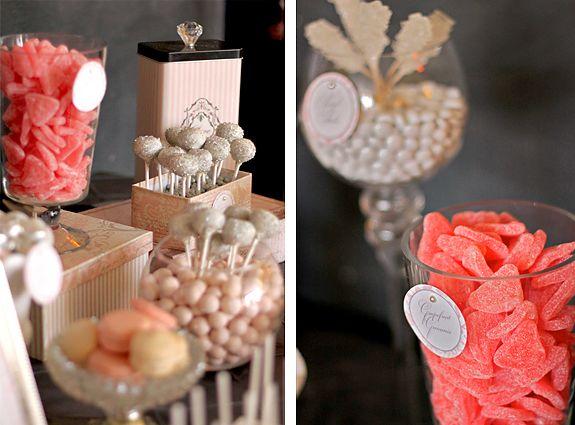 Elegant bridal shower buffet