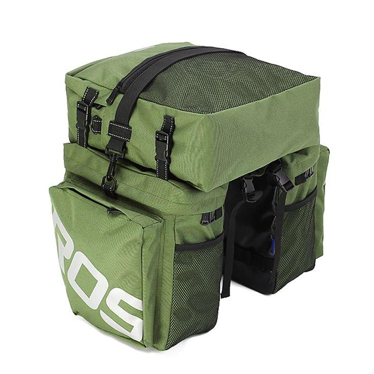 32.48$  Buy here - http://alij2u.shopchina.info/go.php?t=32801617103 - Roswheel 3 in 1 Multifunction Road MTB Mountain Bike Bag Bicycle Pannier Rear Seat Trunk Bag Army Green 32.48$ #buyininternet